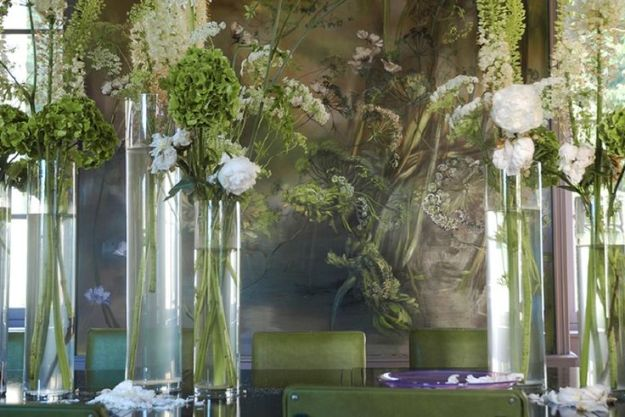 the garden comes inside in artist Claire Basler's home/studio outside Paris