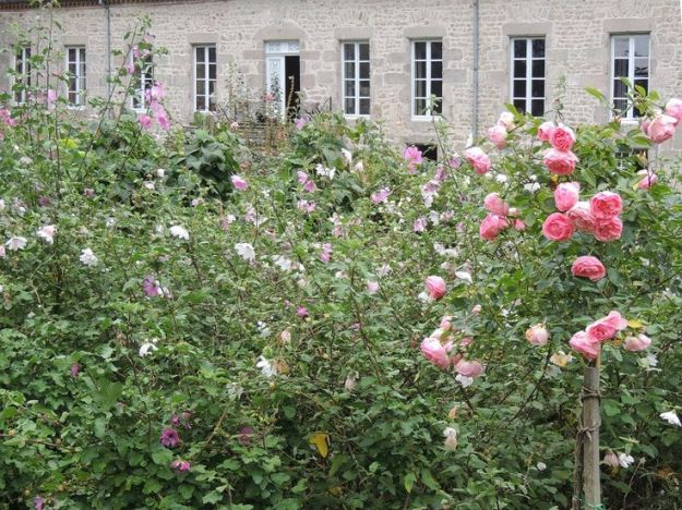 Artist Claire Basler's garden at home/studio in Les Ornes, outside Paris