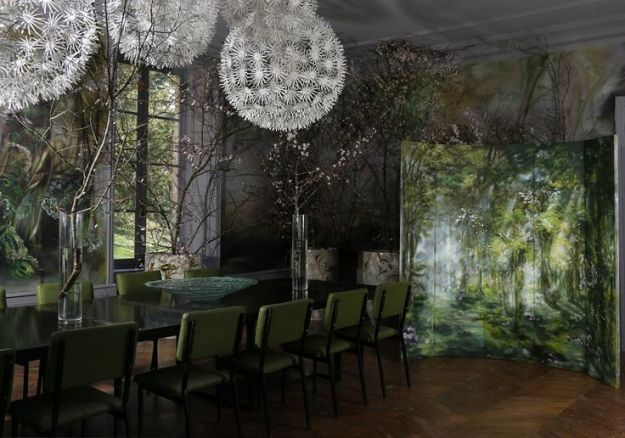 dining room in Claire Basler's home/studio