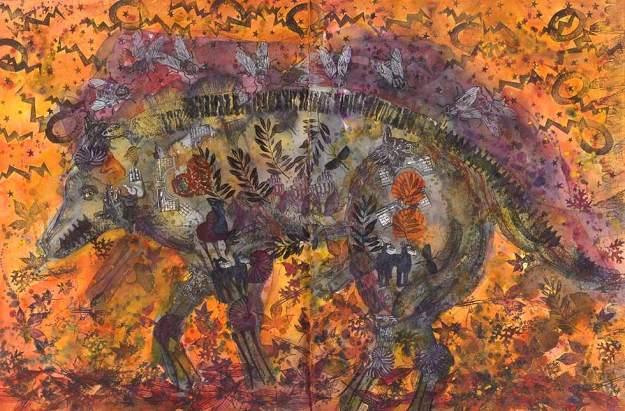 Halena Cline Autumn Wolf http://www.halenacline.com/autumnwolf.html