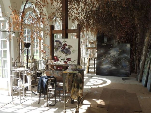 Clair Basler's studio in Les Ornes outside Paris