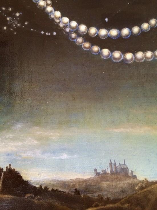 "Melanie Millar, Miracle and Wonders, oil on canvas, 12""x8'"