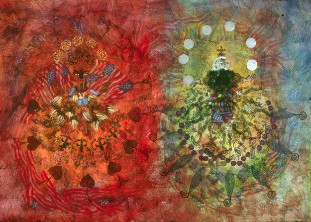 Halena Cline, REASON Watercolor and Ink 51 x 36